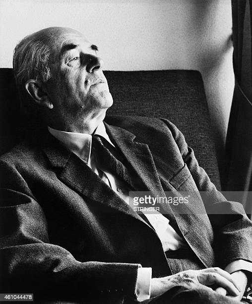 Portrait taken on March 3 1971 shows German architect Albert Speer for the German Reich posing at his home in Heidelberg Appointed in 1933 by Adolf...