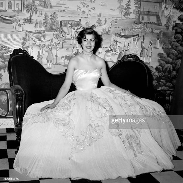 Portrait taken on May 19 1952 in Paris shows Greek actress Irene Papa
