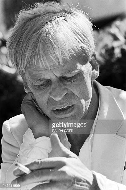 Portrait taken on May 21, 1979 shows German actor Klaus Kinski during the 32th International Film Festival in Cannes. AFP PHOTO RALPH GATTI