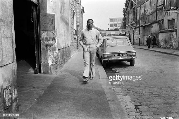 Portrait taken on May 29 1975 in Paris showing Eldridge Cleaver one of the original members of the radical Black Panther Party Cleaver died 02 May at...