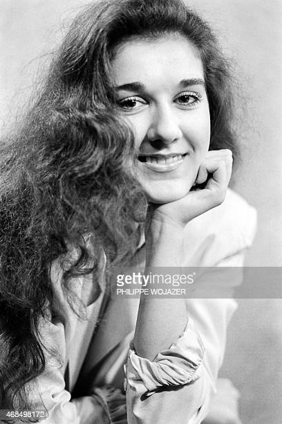 Portrait taken on November 7 1984 shows Canadian singer Celine Dion aged of 16 prior to the opening for Patrick Sebastien at Paris Olympia AFP PHOTO...