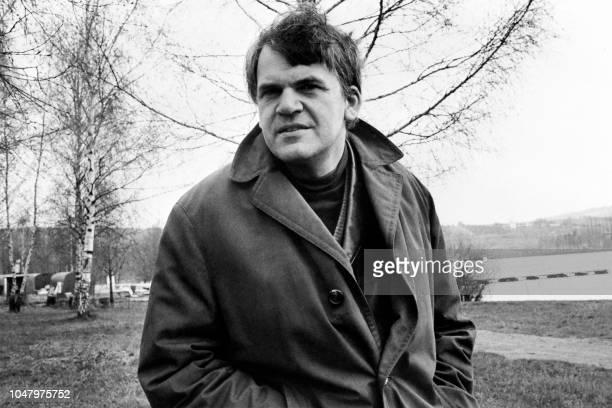 Portrait taken on October 14 1973 shows Czechborn French writer Milan Kundera