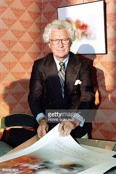Portrait taken on September 12 1990 in Paris shows British photographer and film director David Hamilton during the opening of his exhibition...