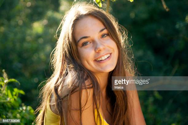 portrait teenager - pretty girls stock photos and pictures