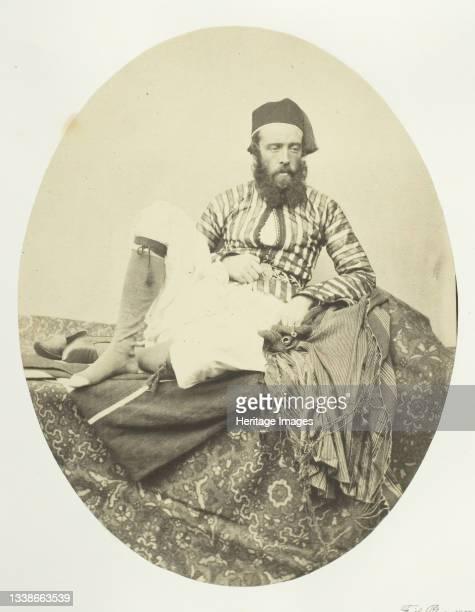 Portrait, Turkish Summer Costume, 1857. Albumen print, pl. 1 from the album 'Egypt and Palestine, volume i' . Artist Francis Frith.