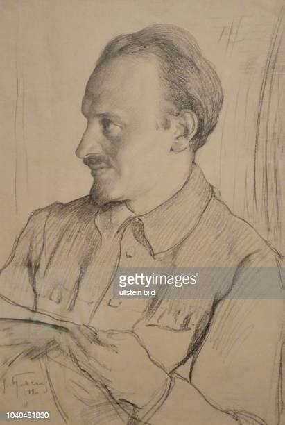 Portrait von Nikolai Iwanowitsch Bucharin sowjetischer Politiker Wirtschaftstheoretiker und Philosoph Zeichnung von Isaak Israilewitsch Brodski...