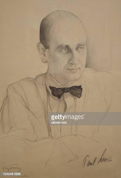 """""""Portrait von Paul Levi"""" deutscher Rechtsanwalt und linkssozialistischer Politiker einer der Mitbegründer der KPD Zeichnung von Isaak Israilewitsch..."""