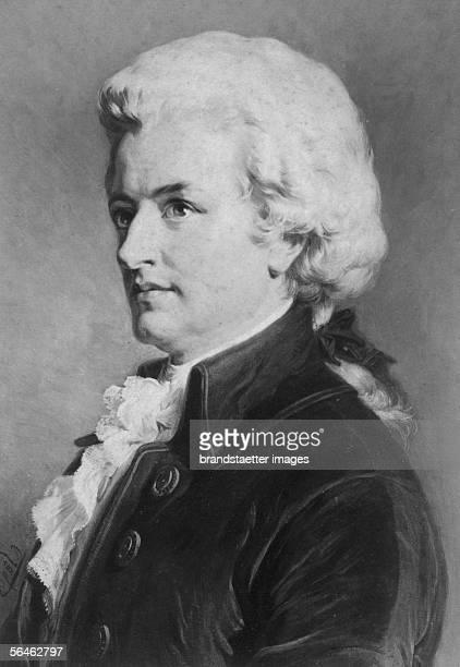 Portrait von Wolfgang Amadeus Mozart Around 1890 [Portrait von Wolfgang Amadeus Mozart Um 1890]