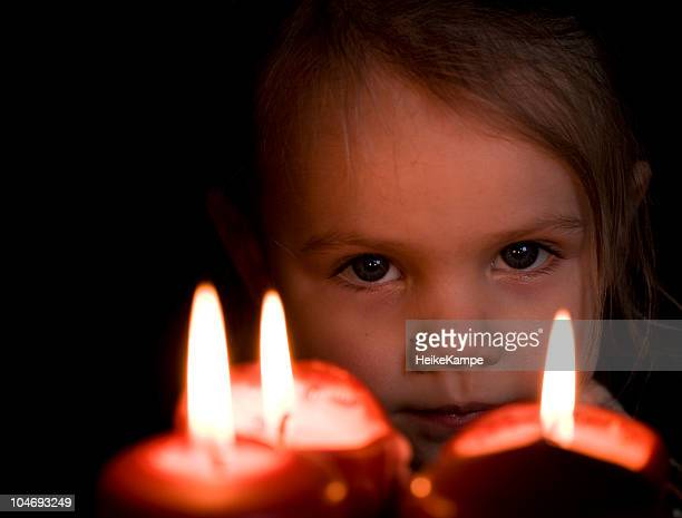 portrait with candles - children only stock pictures, royalty-free photos & images