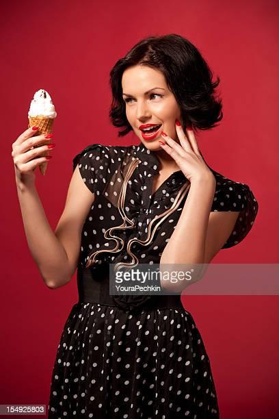Portrait with ice cream