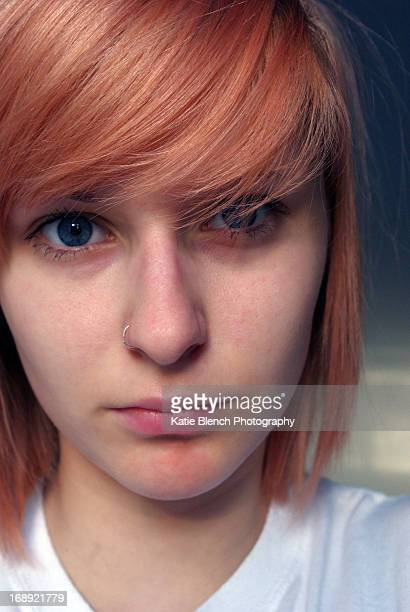 portrait with red hair - gillingham stock pictures, royalty-free photos & images