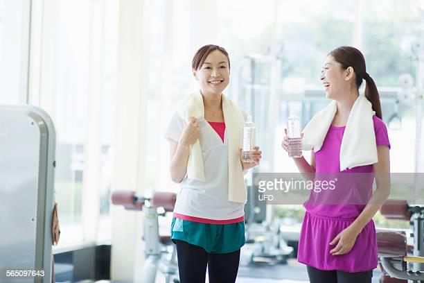 Portrait woman in gym