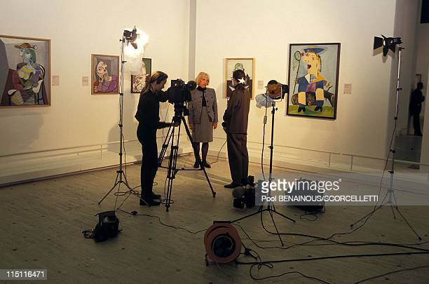 'Portraits by Picasso' on show at the Grand Palais in Paris France on October 16 1996 Maya Picasso