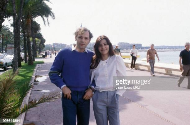 Portraits de Patrick Dewaere et Ariel Besse pour le film 'Beau Père' lors du Festival de Cannes en mai 1981 France