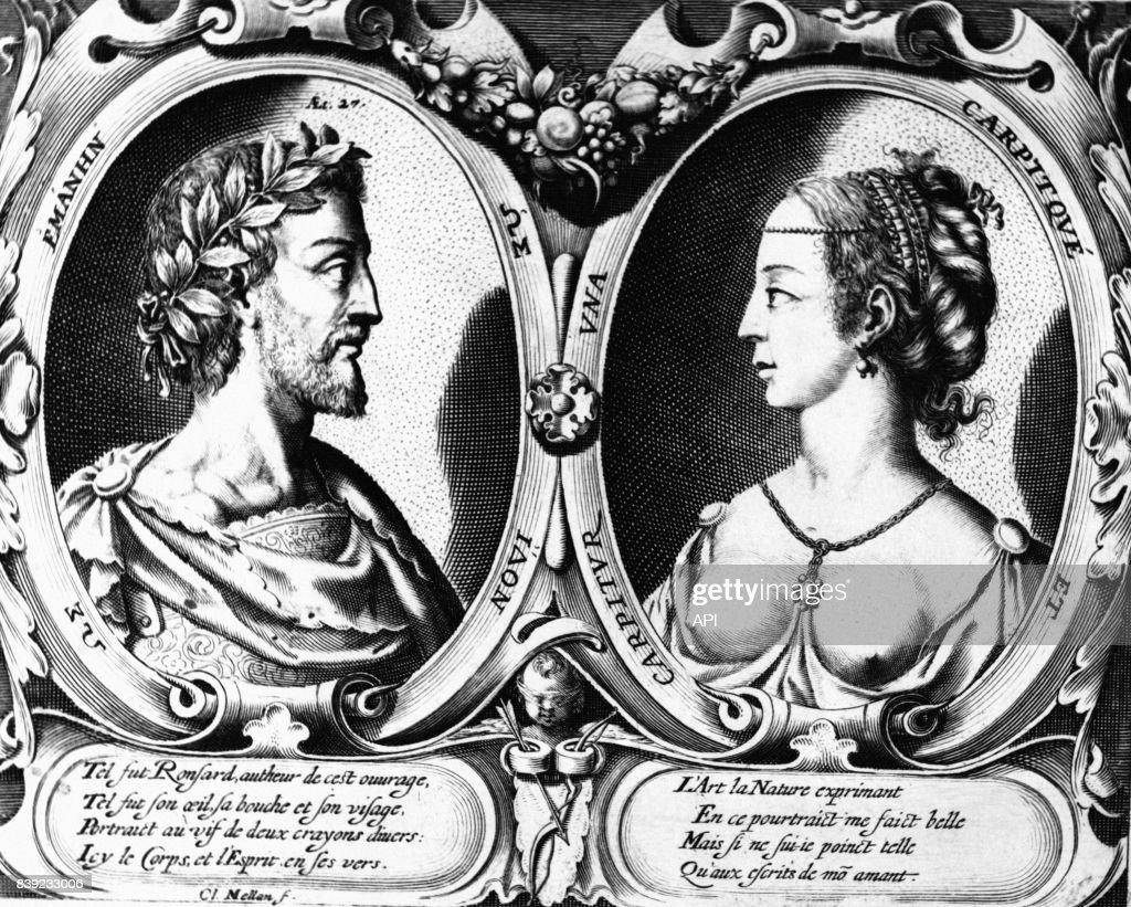 Portraits Du Poète Français Pierre De Ronsard Et De