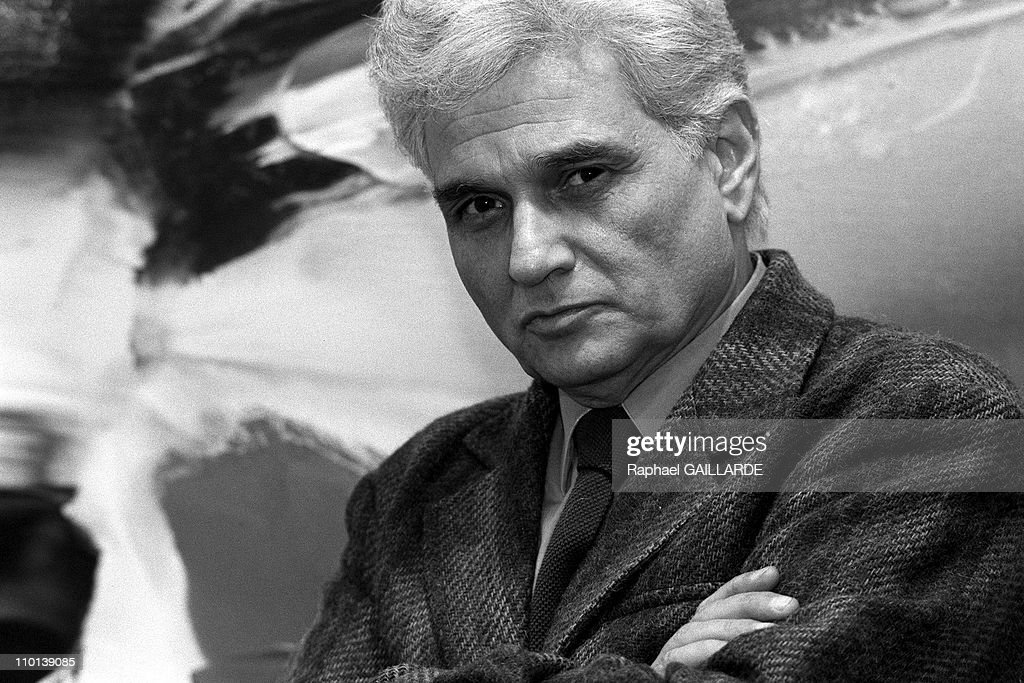Portraits : J. Derrida in Paris, France on March 14, 1986. : News Photo