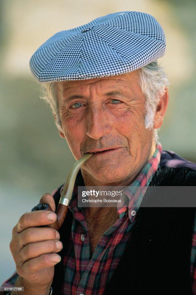 Portraits of a Corsican Man : Stock Photo