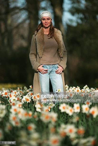 Portraits of Agathe de la Fontaine in London United Kingdom in March 2000