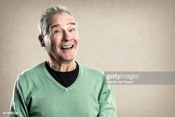 Portraits of an Elderly Man - Expressions -  Happy Surprise