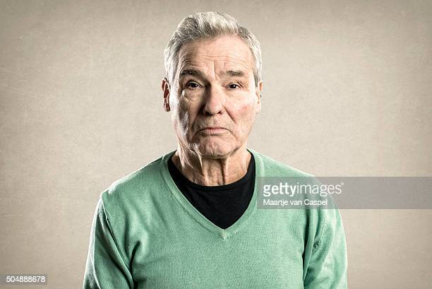 Portraits of an Elderly Man - Expressions -  Neutral Serious