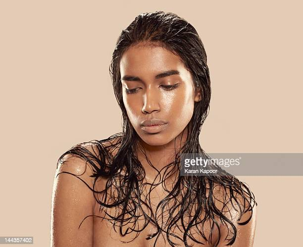 portraits of beautiful girl - birthday suit stock pictures, royalty-free photos & images