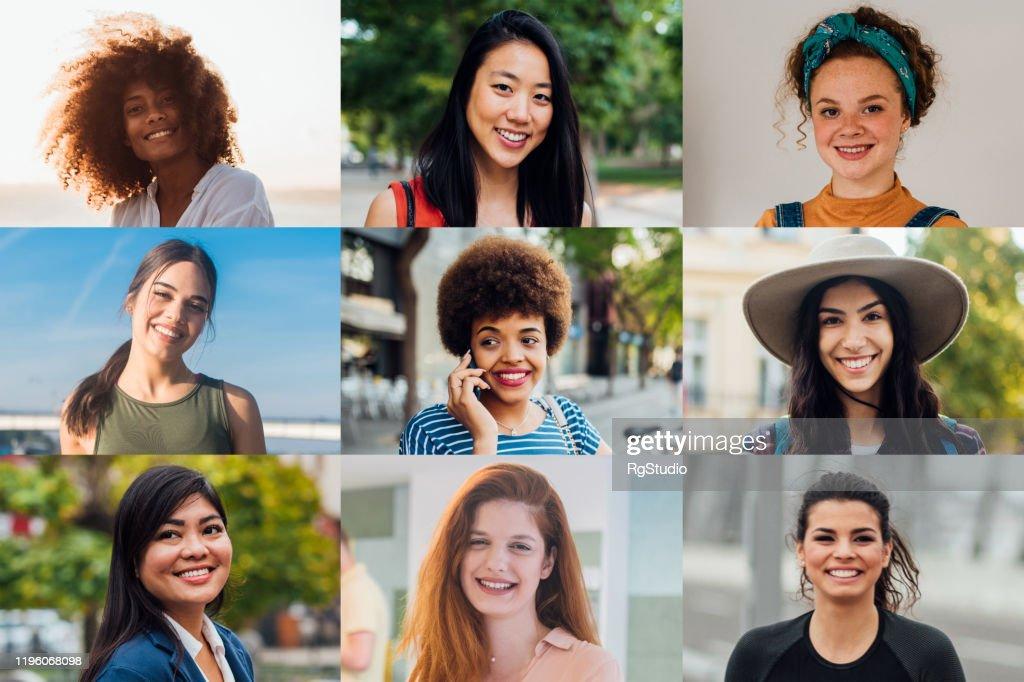 Retratos de mulheres bonitas : Foto de stock