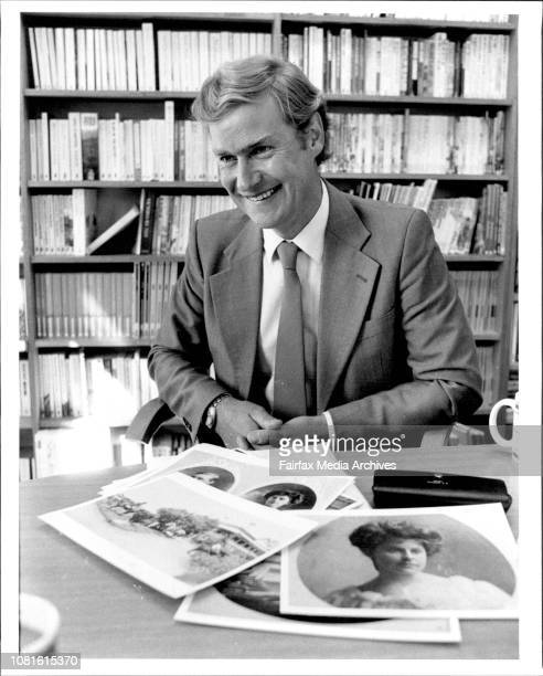 Portraits of English author Richard Masefield author of the book Chalkhill Blue pictured at Pan Books offices Woollahra August 15 1984