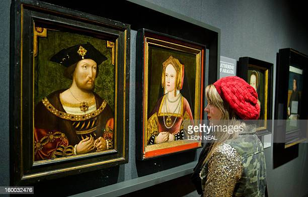 Portraits of English King Henry VIII and his first wife Catherine of Aragon are displayed together for the first time in nearly 500 years at the...