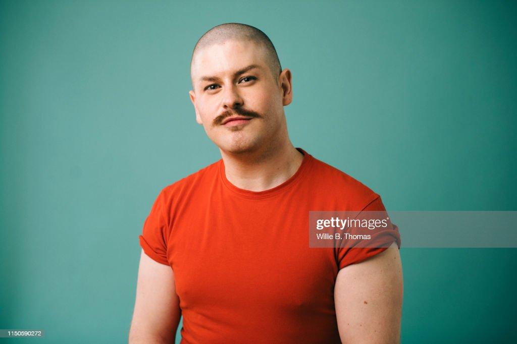 Portraits of Gay Man : Stock Photo