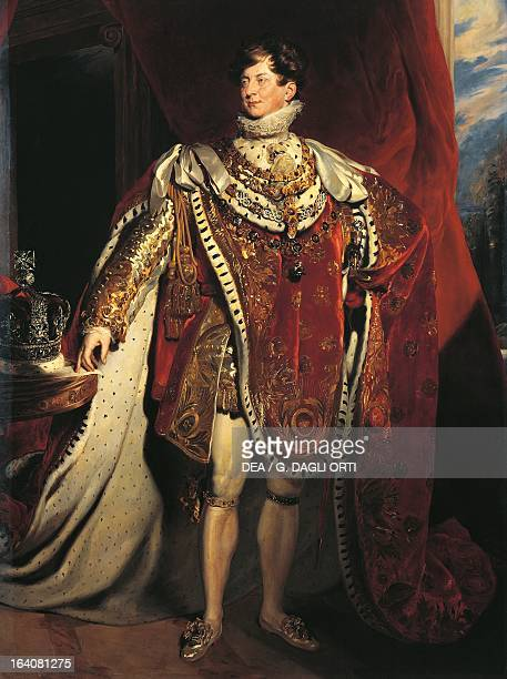 Portraits of George IV of the United Kingdom King of the United Kingdom of Great Britain and Ireland and Hanover Painting by George Healy copy from a...