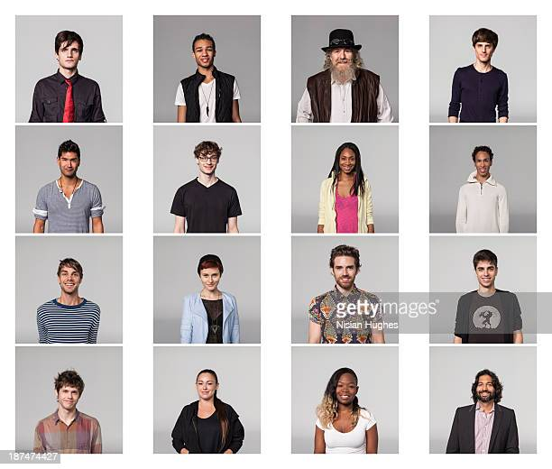 portraits of group of people - multiple image stock pictures, royalty-free photos & images