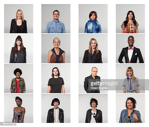 portraits of group of people - veste noire photos et images de collection