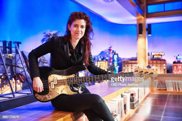 Portraits of Hagar Ben Ari bassist of the Late Late Show band on The Late Late Show with James Corden Thursday May 25 2017 On The CBS Television...
