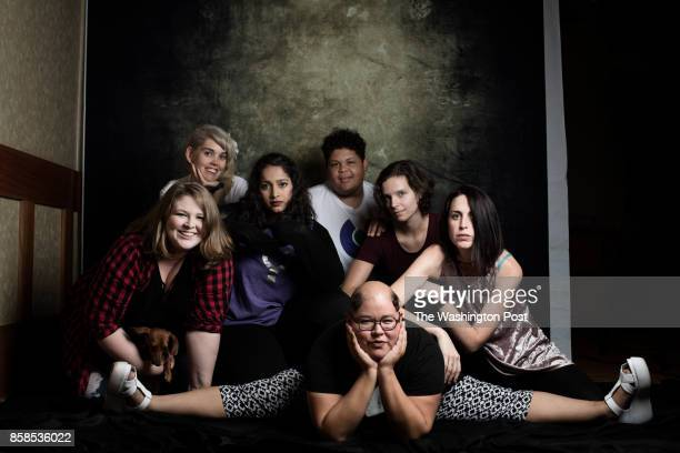 Portraits of Intersex people who attend the 2017 AISDSD Annual Conference in Phoenix Arizona on July 13 2017 PICTURED from left to right Members of...
