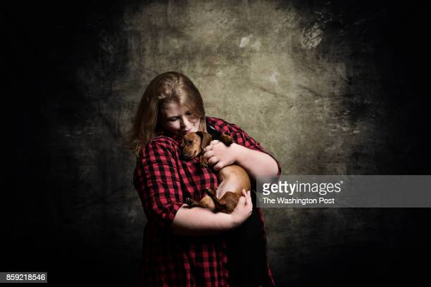 Portraits of Intersex people who attend the 2017 AISDSD Annual Conference in Phoenix Arizona on July 13 2017 PICTURED Christa Whitlow wither her dog...