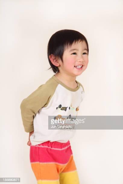 portraits of japanese boy - be naughty ストックフォトと画像