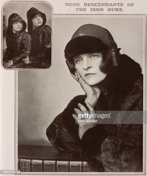 Portraits of Lady Eileen Wellesley Orde and of her daugthers Julian and Jane photographs by Madame Yevonde from The Tatler No 1403 May 16 London