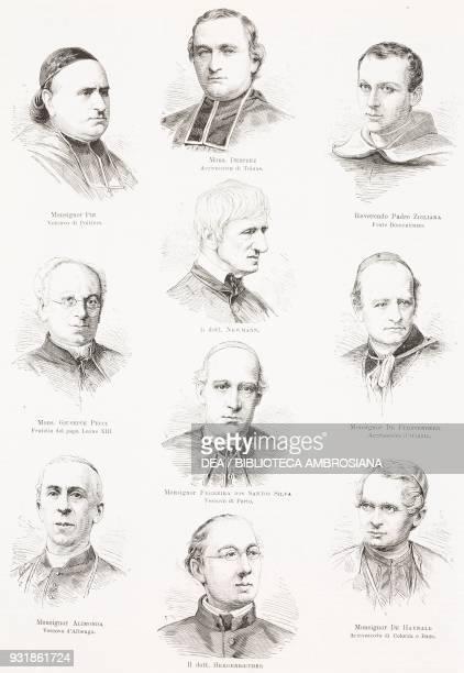 Portraits of Louis the Pious Florian Desprez Thomas Zigliara Giuseppe Pecci John Henry Newman Friedrich Egon von Fuerstenberg Americo Ferreira dos...