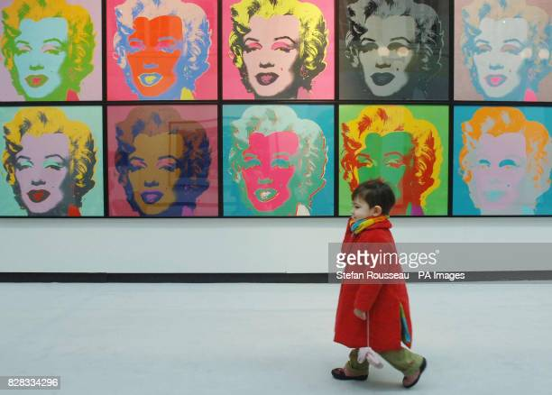 Portraits of Marilyn Monroe by Andy Warhol on show at Christie's in London Friday February 3 2006 where they will go on sale on February 8 2006 as...