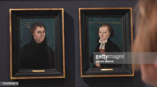 Portraits of Martin Luther and Katharina von Bora, by the painter Lucas Cranach the Elder can be seen at the Pommeranian state museum in Greifswald,...