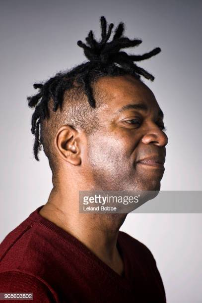 Portraits of Middle Age African American Man
