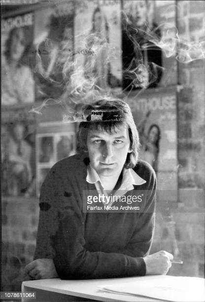 Portraits of Mr Andrew Cowell editor of Penthouse magazine pictured in his office in Riley St Darlinghurst July 28 1982