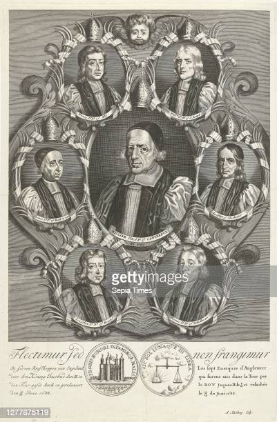 Portraits of seven bishops of England Bending but not breaking Flectimur sed non frangimur Portraits of seven bishops of England placed in the Tower...
