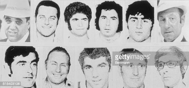 Portraits of the eleven Israeli athletes and coaches slain in West Germany at the 1972 Olympic Games They are Yosef Gutfreund 40 Moshe Weinberg 33...