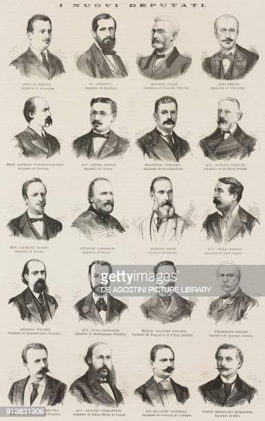 Portraits of the newly elected deputies of the 12th Legislature of the Kingdom of Italy Ottavio Serena Francesco Cedrelli Michele Maria Gavino Praus...