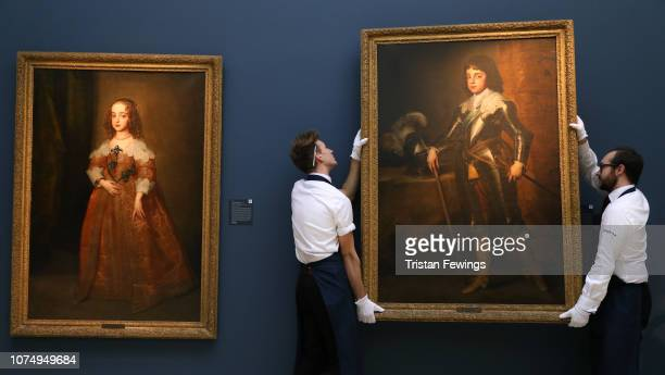 Portraits of the two eldest children of King Charles I Mary Princess Royal and Prince Charles Prince of Wales by Sir Anthony Van Dyck circa 1641 on...