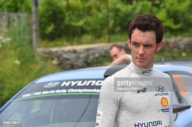 Portraits of Thierry Neuville of Belgium during Day Three of the WRC Italy Sardegna during Day Three of the WRC Italy Sardegna on June 12 2016 in...
