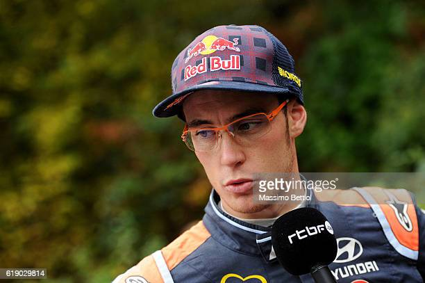 Portraits of Thierry Neuville of Belgium during Day Two of the WRC Great Britain on October 29 2016 in Deeside Wales