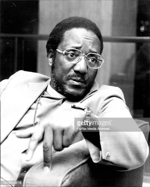 Portraits of Ugan'an Bishop Festo Kivengere at the Hilton HotelBishop Kivengere in Sydney yesterdayBishop Festo Kivengere field from Uganda last...