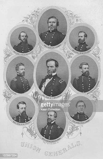 Portraits of Union Generals from the US civil war George Henry Thomas John McAllister Schofield James Birdseye McPherson Henry Warner Slocum William...